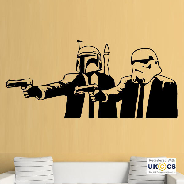 Banksy Star Wars Pulp Fiction Wall Art Stickers Decals Vinyl Decor ...