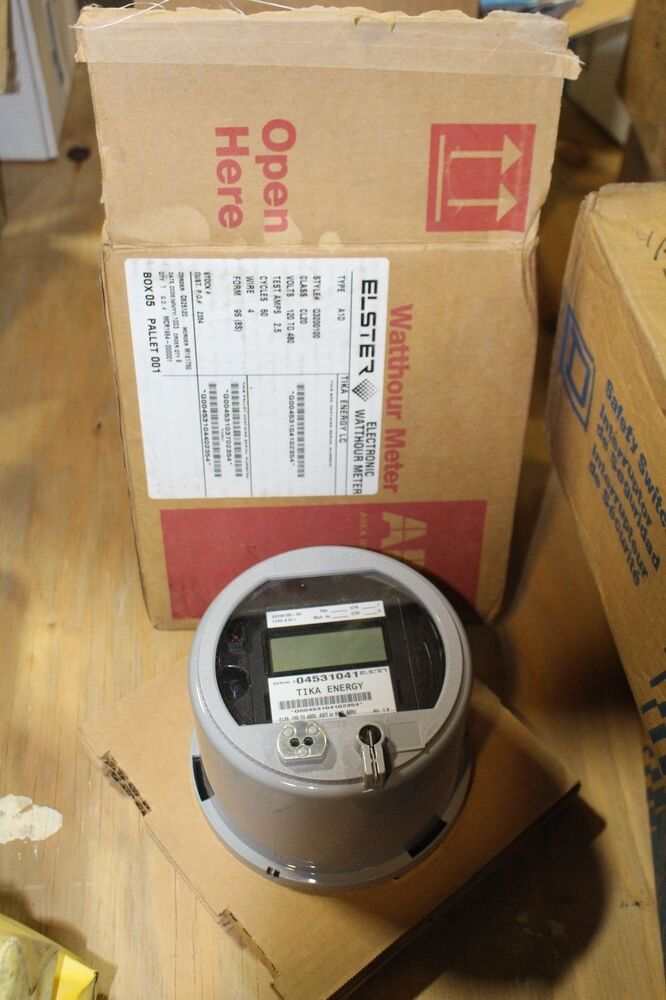 Watthour Meter Tester : New abb solid state watthour meter q type a d ebay