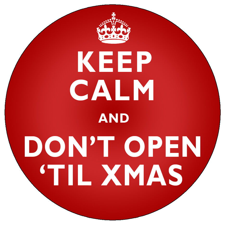 Details about personalised christmas keep calm stickers xmas santa claus present gift labels