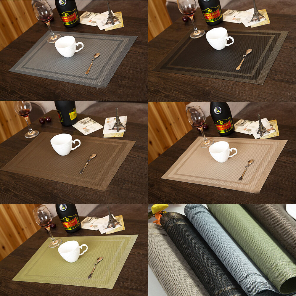 New continental insulation bowl placemats dining room pad western table mats ebay - Dining room table mats ...