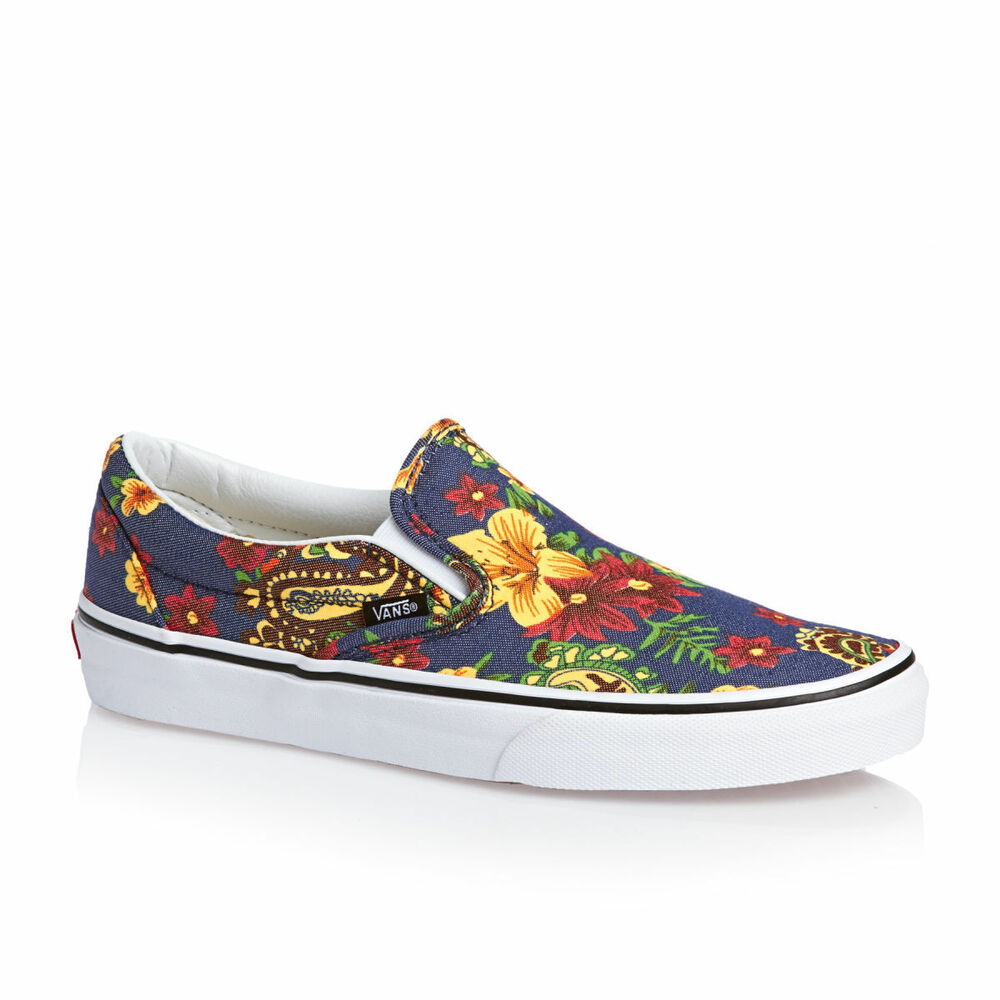 5ed77f00862754 Details about Vans CLASSIC SLIP-ON Womens Shoes  (NEW) Sizes 5-11 SLIP ONS  Dress Blues   ALOHA