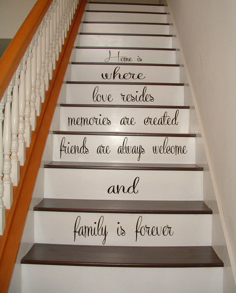 Stairs Vinyl Decal Quote Family Stairway Decor Home Stair