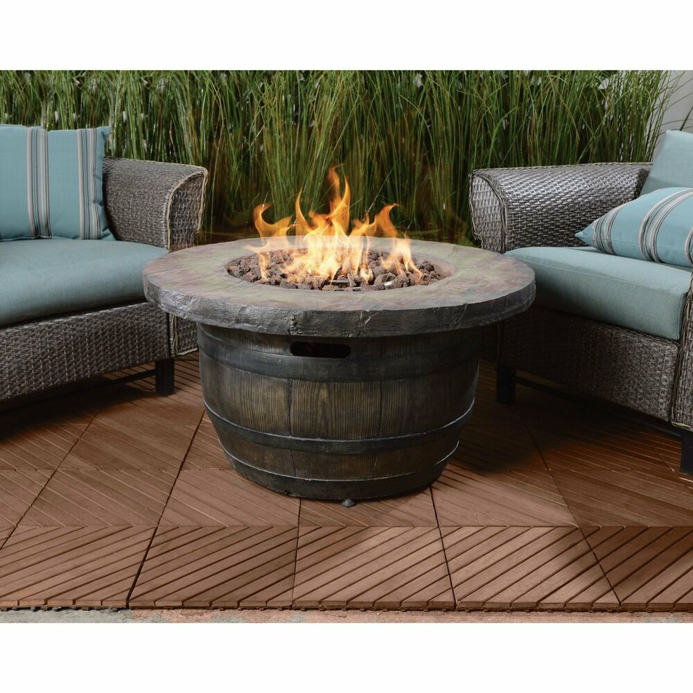 Vineyard outdoor propane fire table 50 000 btu yard patio for Global outdoors fire table