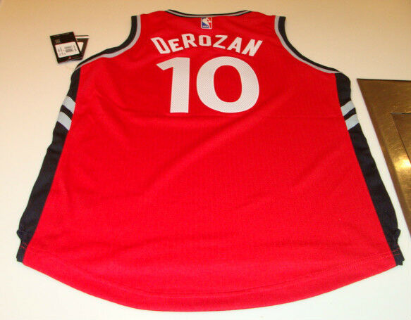 NBA Toronto Raptors Demar DeRozan Road Red Youth 2015-16 New Logo Jersey  Large  211ef82fc