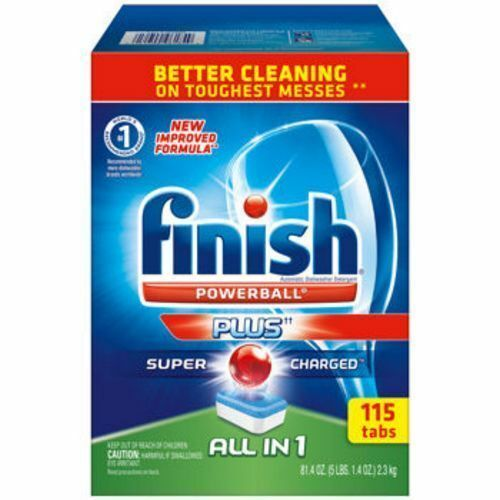 Finish All-In-One Dishwasher Detergent Powerball Ultra Super Charged Tabs Finish Max in 1 Powerball, 63ct, Wrapper Free Dishwasher Detergent Tablets. by Finish. $ $ 11 48 ($/Count) Free Shipping on eligible orders. 4 out of 5 stars See Details. Buy $60, Save $10 See Details.