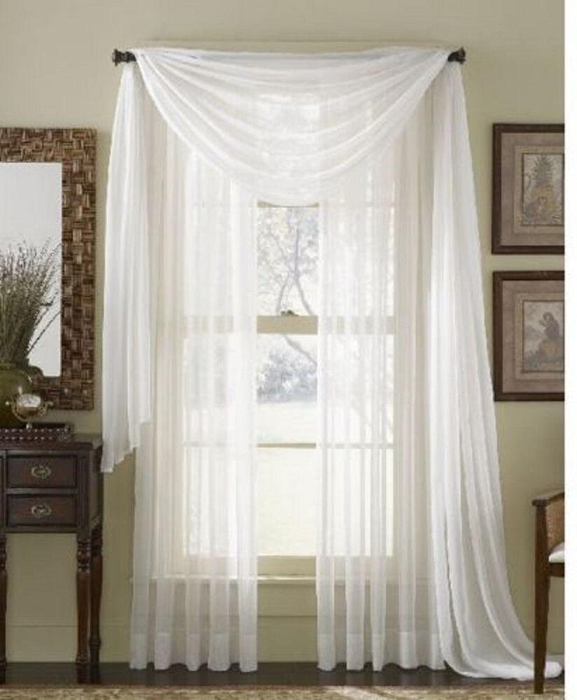 white topper voile valance sheer window solid