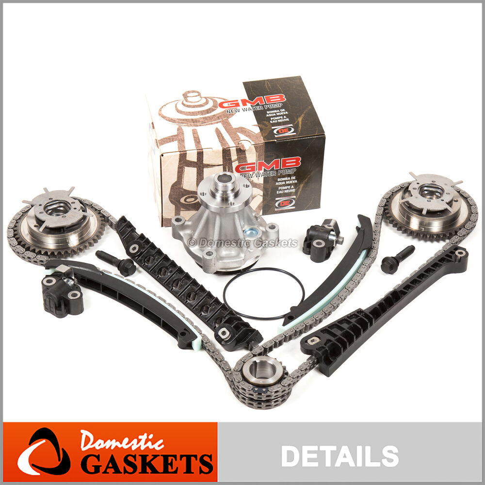 04 08 ford f150 lincoln 5 4l 3v triton timing chain water pump kit cam phasers ebay. Black Bedroom Furniture Sets. Home Design Ideas