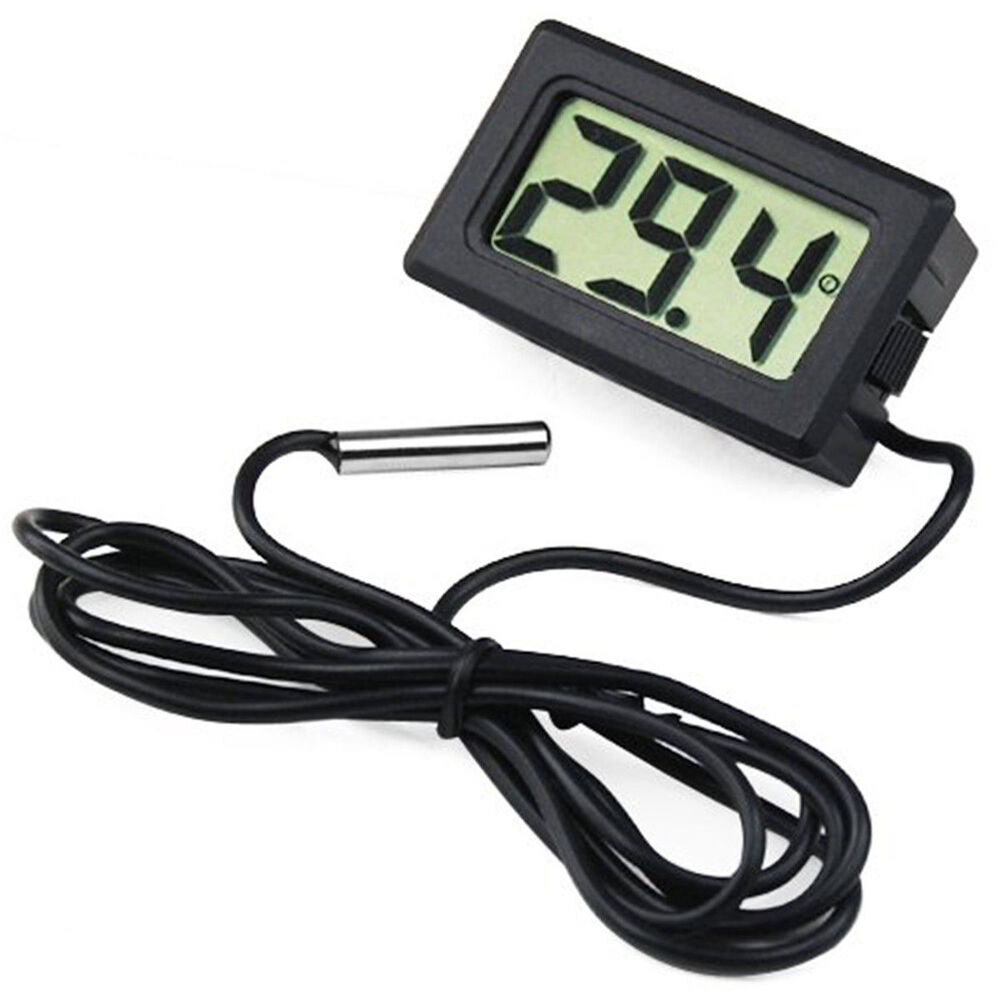 lcd thermometer digital 50 bis 110 digitalthermometer temperatur messer 9786 ebay. Black Bedroom Furniture Sets. Home Design Ideas