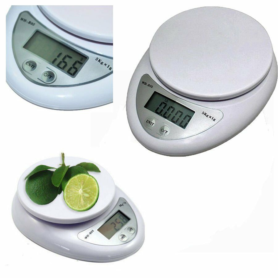 Usa 5kg x 1g digital kitchen scale diet food compact for 0 1g kitchen scales