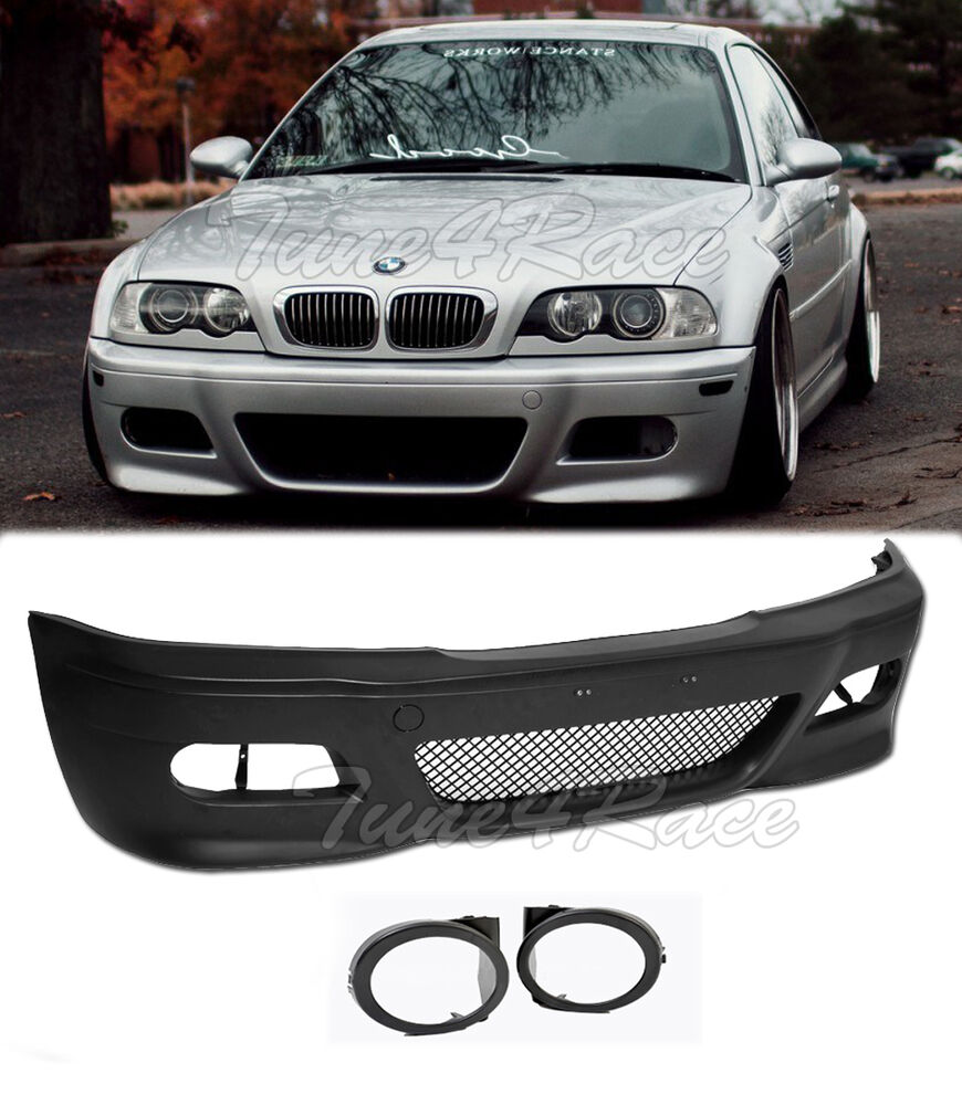 For 99-05 BMW E46 3-Series 4Dr M3 Style Front Bumper & Fog