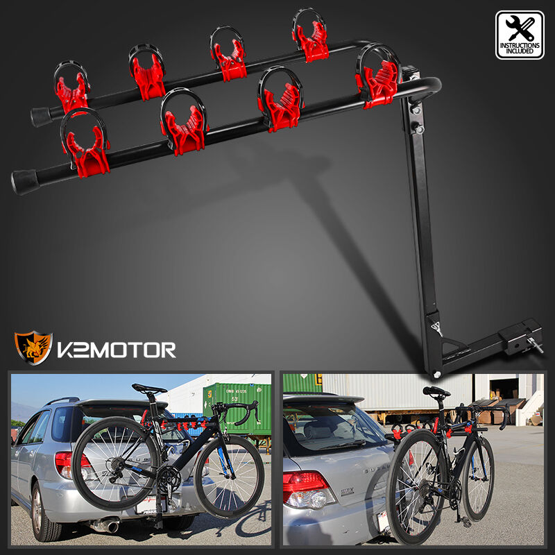 New auto car tuck suv rear 4 bike bicycle hitch mount for Is a bicycle considered a motor vehicle