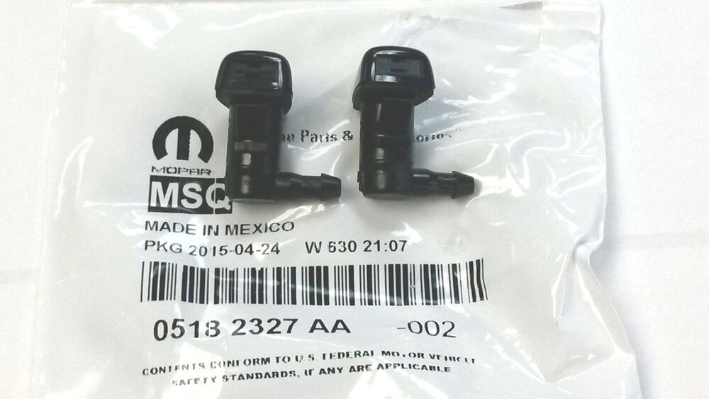 Chrysler 300 Accessories >> 2011-2014 Dodge Challenger Charger Windshield Washer Nozzle PAIR 5182327-AA OEM | eBay