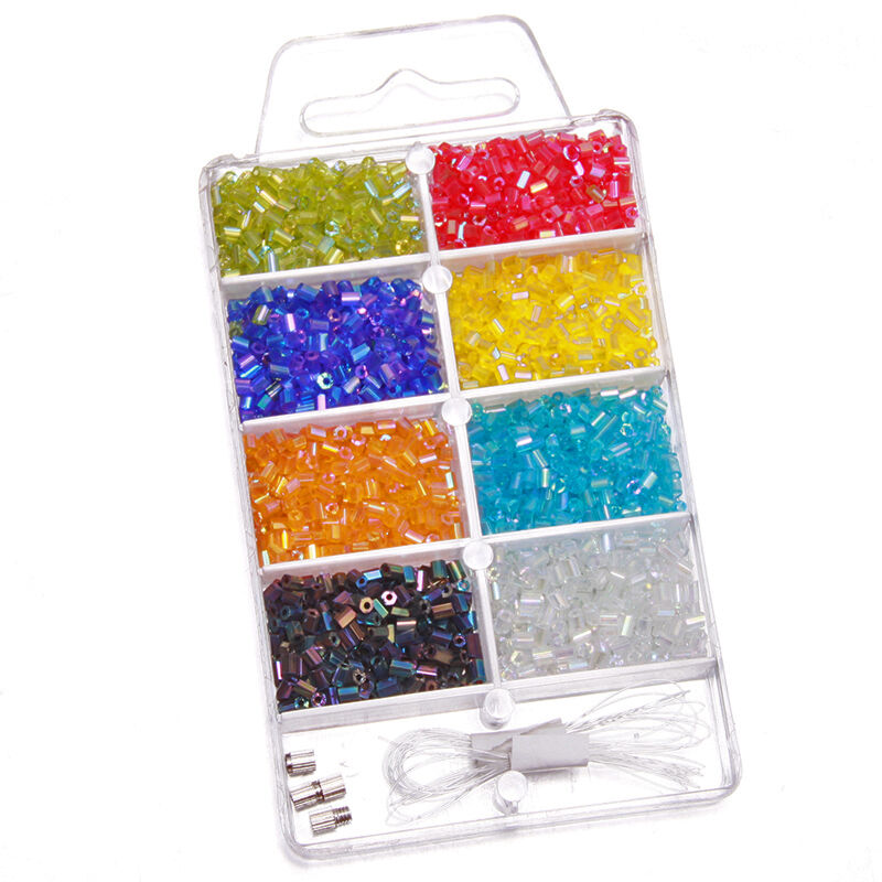 Jewellery Packaging And Bead Storage With: 5Pcs Wholesale Organizer AB Glass Tube Mini Beads Jewelry