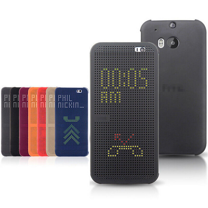 hot sale online 9f64d 81e6e Smart Dot View Display Slim Flip Case Cover For HTC One M9/M9+ Plus ...