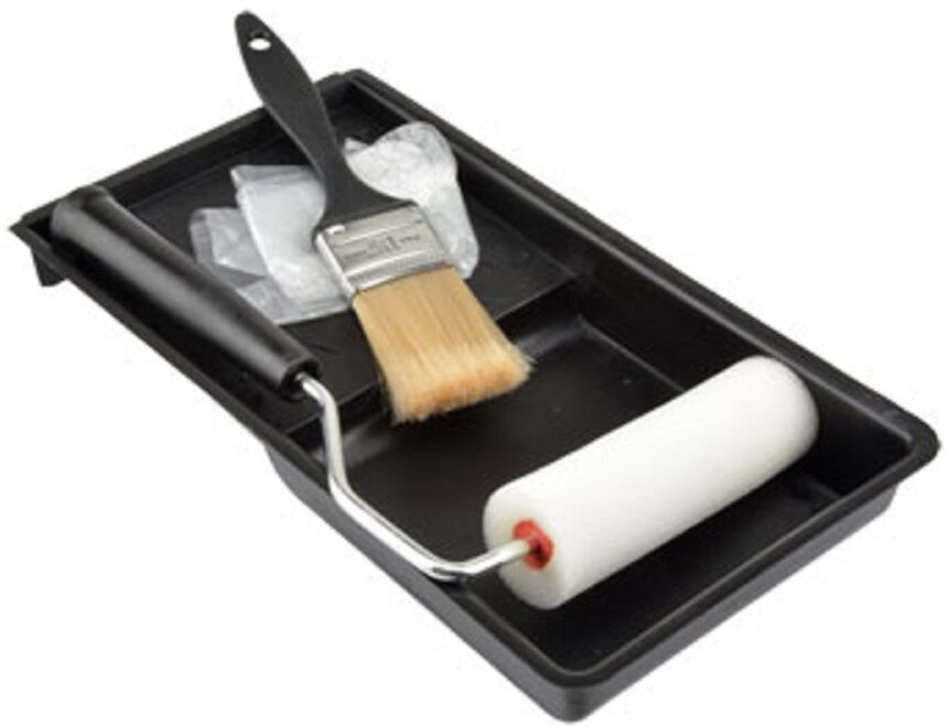 small roller brush tray gloves paint set 5 piece ebay. Black Bedroom Furniture Sets. Home Design Ideas