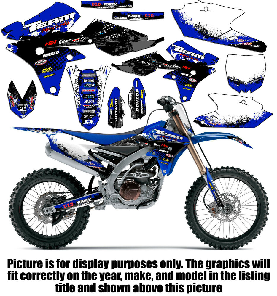 2015 2017 yamaha yz 125 250 graphics kit decals stickers deco yz125 yz250 2016 ebay. Black Bedroom Furniture Sets. Home Design Ideas