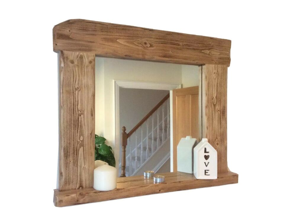 Beautiful quality handmade rustic style wooden mirror for Wooden mirror