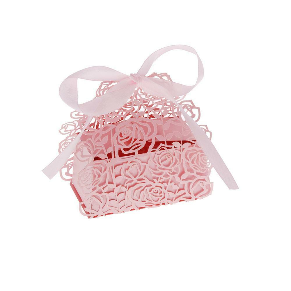 12Pcs Rose Candy Cookie Boxes Wedding Favor Party Gift Boxes + ...