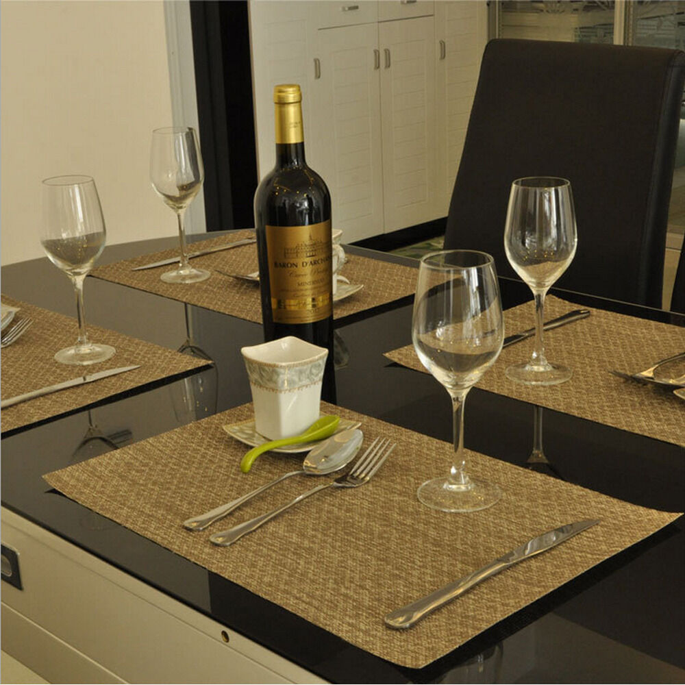 Kitchen Table With Food: NEW Kitchen Insulation Bowl Placemats Dining Pad Western-style Food Table Mats