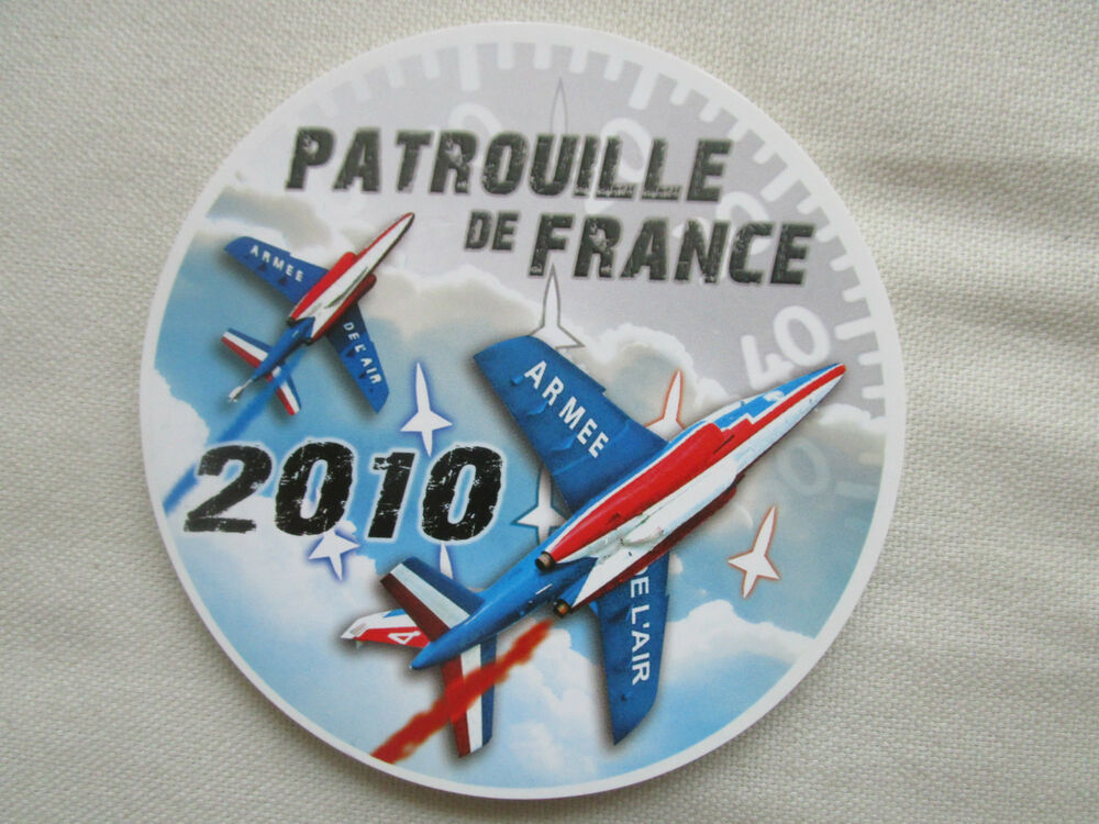 autocollant sticker armee de l 39 air alpha jet dassault patrouille de france 2010 ebay. Black Bedroom Furniture Sets. Home Design Ideas