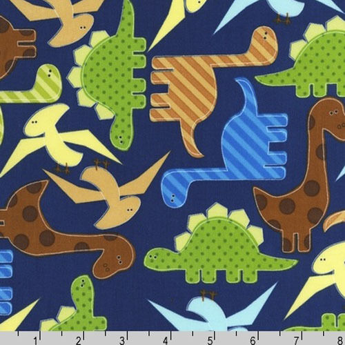 Fat quarter dinosaur dino dinosaurs blue robert kaufman for Dinosaur fabric