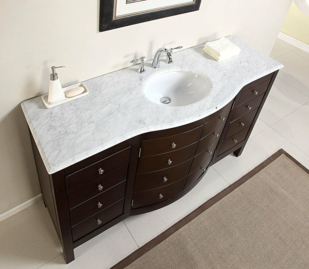vanity top cabinets for bathrooms 60 quot large single sink bathroom vanity marble top lavatory 27923