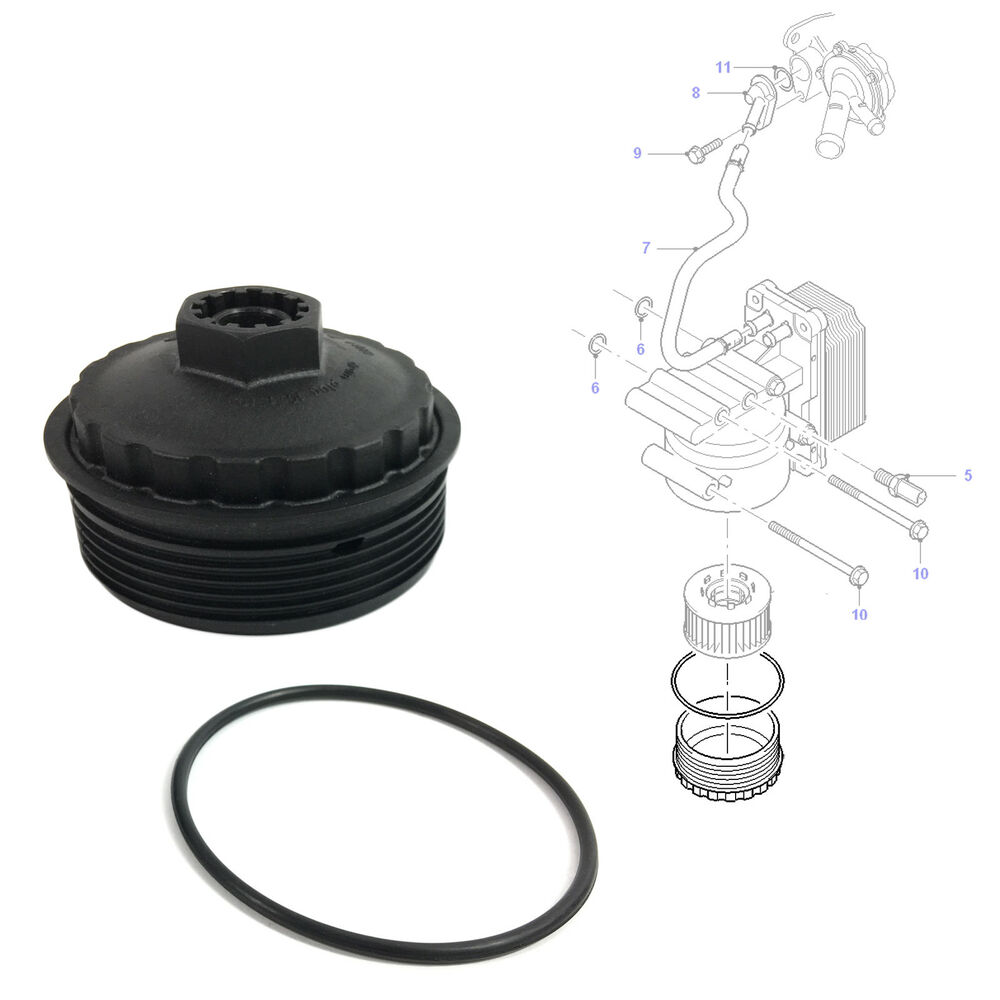 OIL FILTER BOWL COVER CAP FORD TRANSIT MK6 / FORD MONDEO MK3 ...