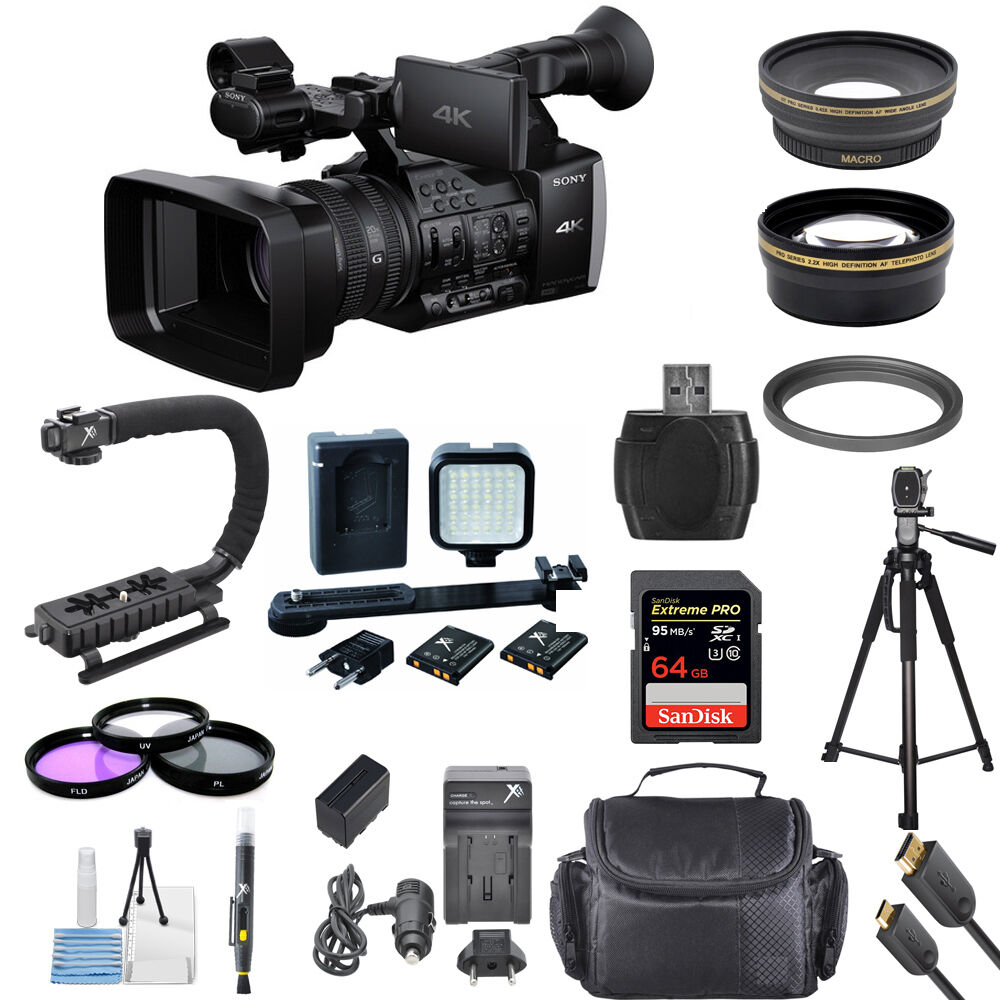 sony fdr ax1 digital 4k video camera recorder professional bundle brand new 27242865129 ebay. Black Bedroom Furniture Sets. Home Design Ideas