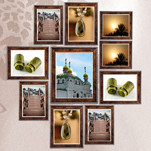 Wall Art Silver Frames : Room decor wall photo silver antique picture frame