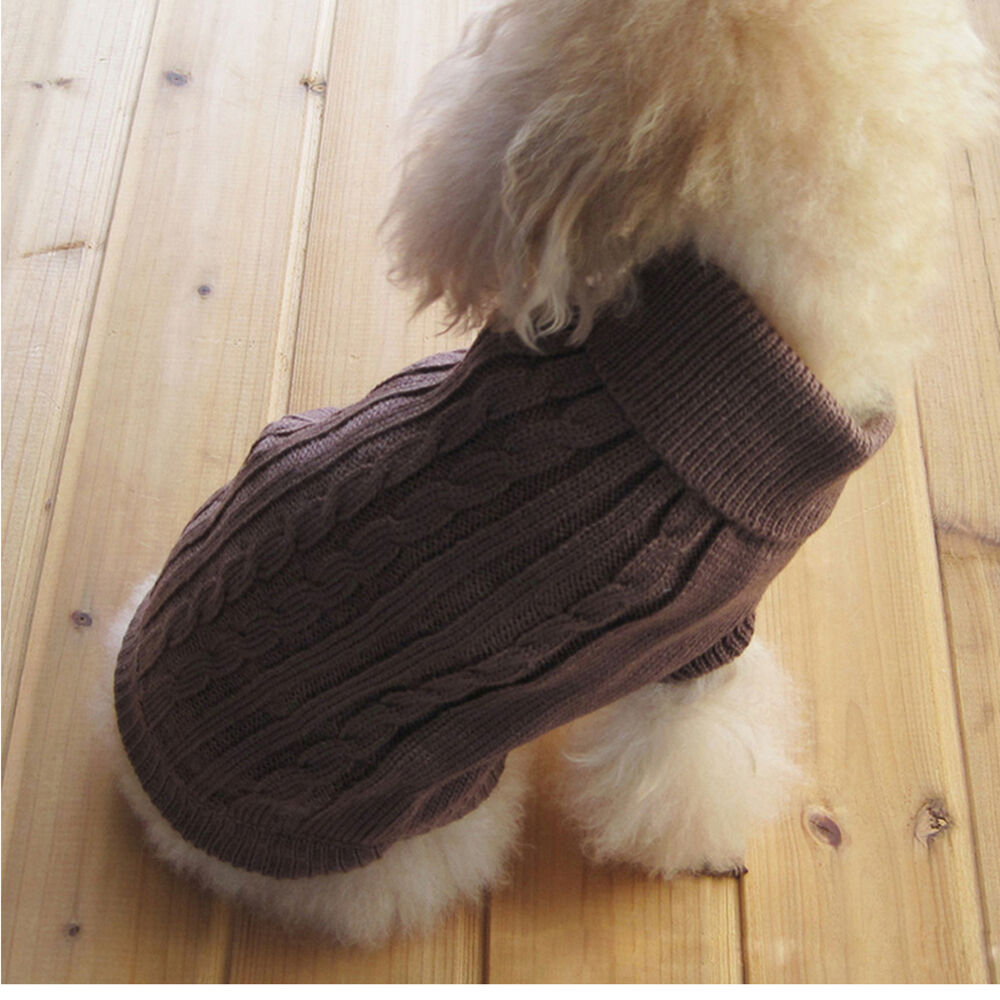 Small Dog Clothes Pet Winter Sweater Knitwear Puppy
