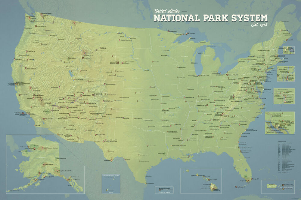 category national parks collection maps