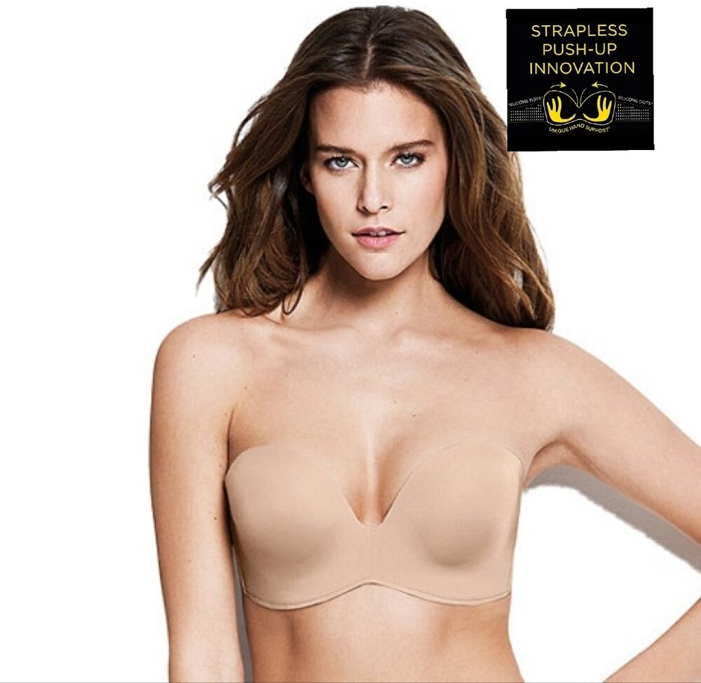 845d10622aa11 Details about NEW WONDERBRA ULTIMATE STRAPLESS PUSH UP UNDERWIRED IN NUDE -  32B-36E
