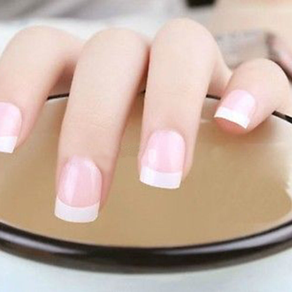 100 pcs french false acrylic nail art tips white for Acrylic nail decoration