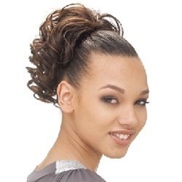 Hair extensions clip in ponytail