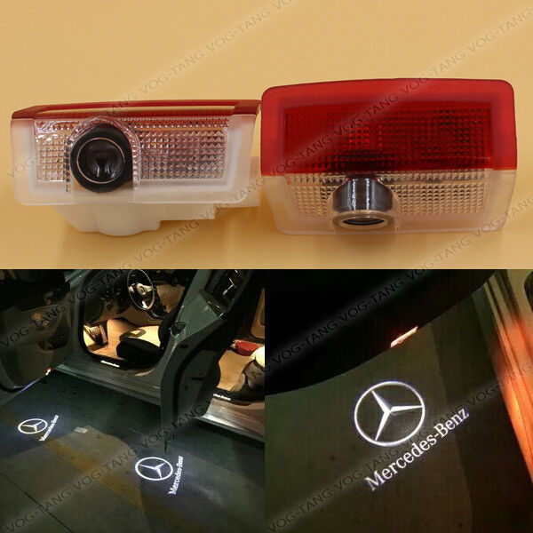 2x led door laser ghost shadow light for mercedes benz e for Mercedes benz door lights
