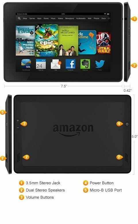Amazon Kindle Fire HD P48WVB4 8GB, Wi-Fi, 7in 3rd Gen