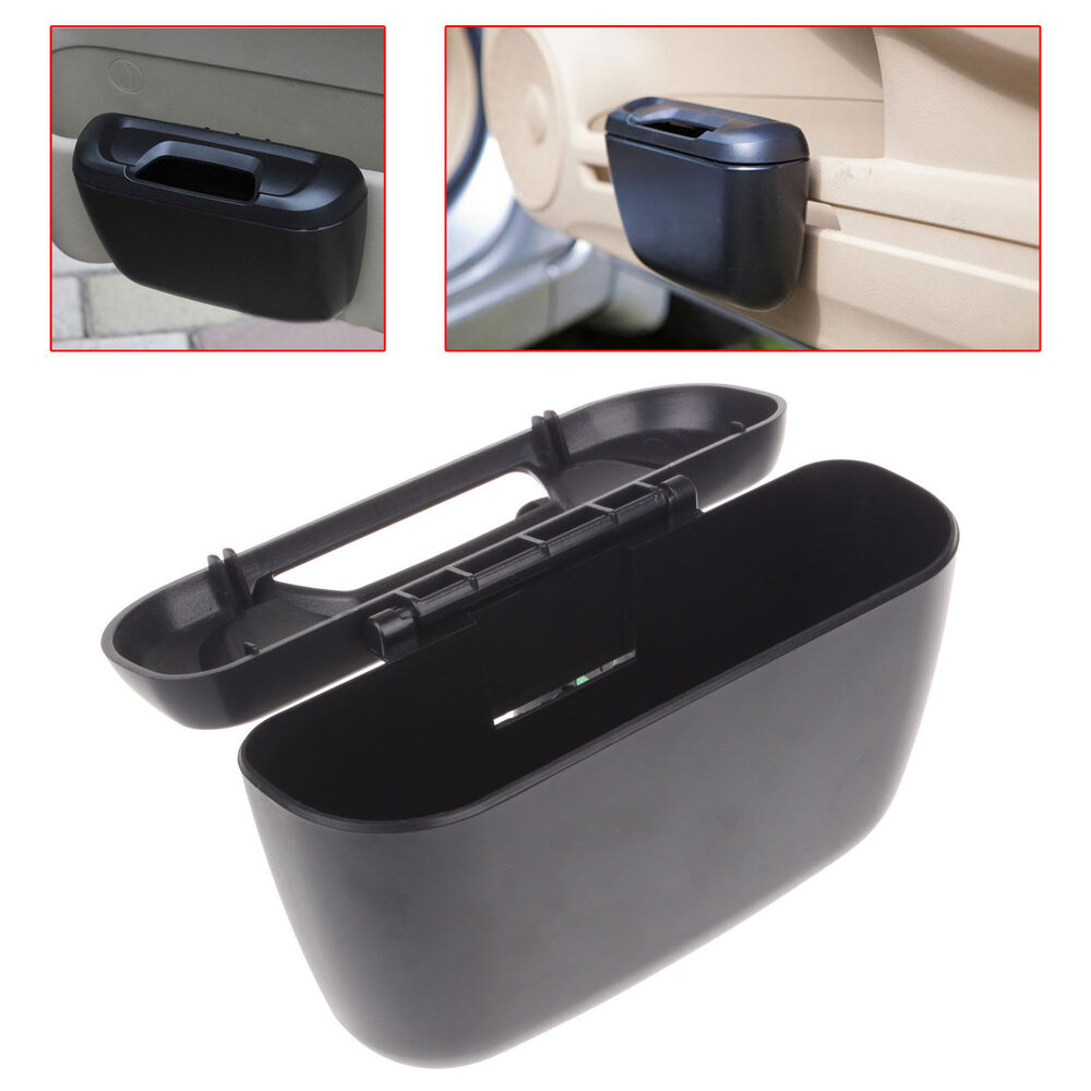 mini vehicle auto car garbage dust case holder box bin trash rubbish can black ebay. Black Bedroom Furniture Sets. Home Design Ideas