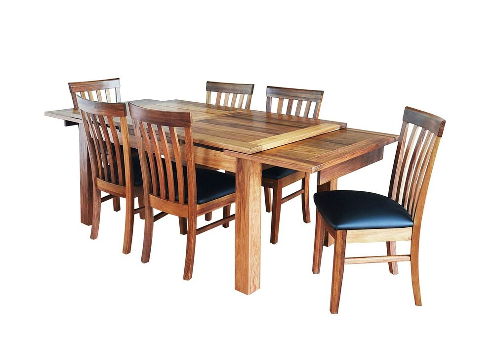Harbour blackwood side extension dining table 7 pc dining for 10 seater dinning table