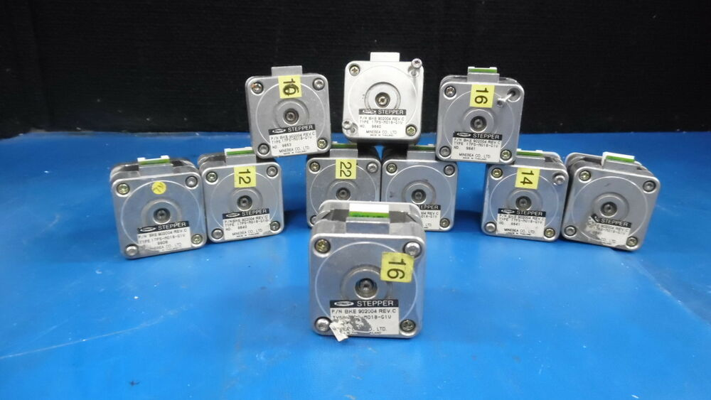 Lot Of 10 Astosyn Stepper Motors Type 17ps M018 G1v Ebay