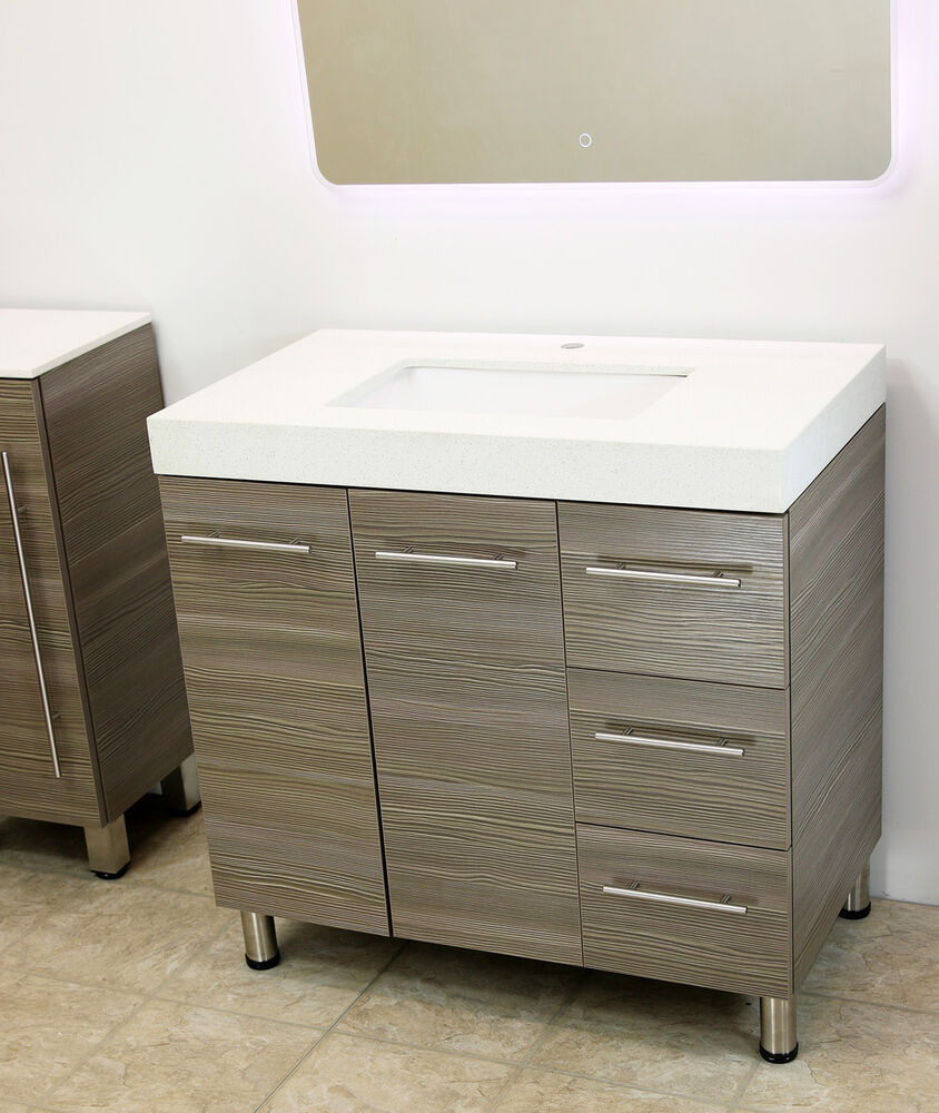 Windbay 36 Free Standing Bathroom Vanity Sink Set Vanities Sink Grey Ebay