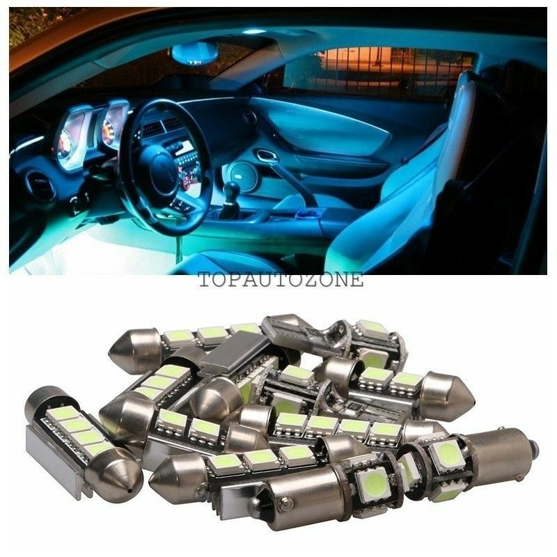 10 X Ice Blue Led Light Bulbs Interior Package Kit For 2010 2014 Ford Fusion Ebay