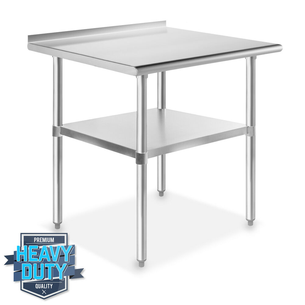 stainless steel kitchen restaurant work prep table with