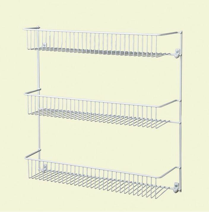 closetmaid steel 18 in 3 tier wall pantry storage shelves. Black Bedroom Furniture Sets. Home Design Ideas