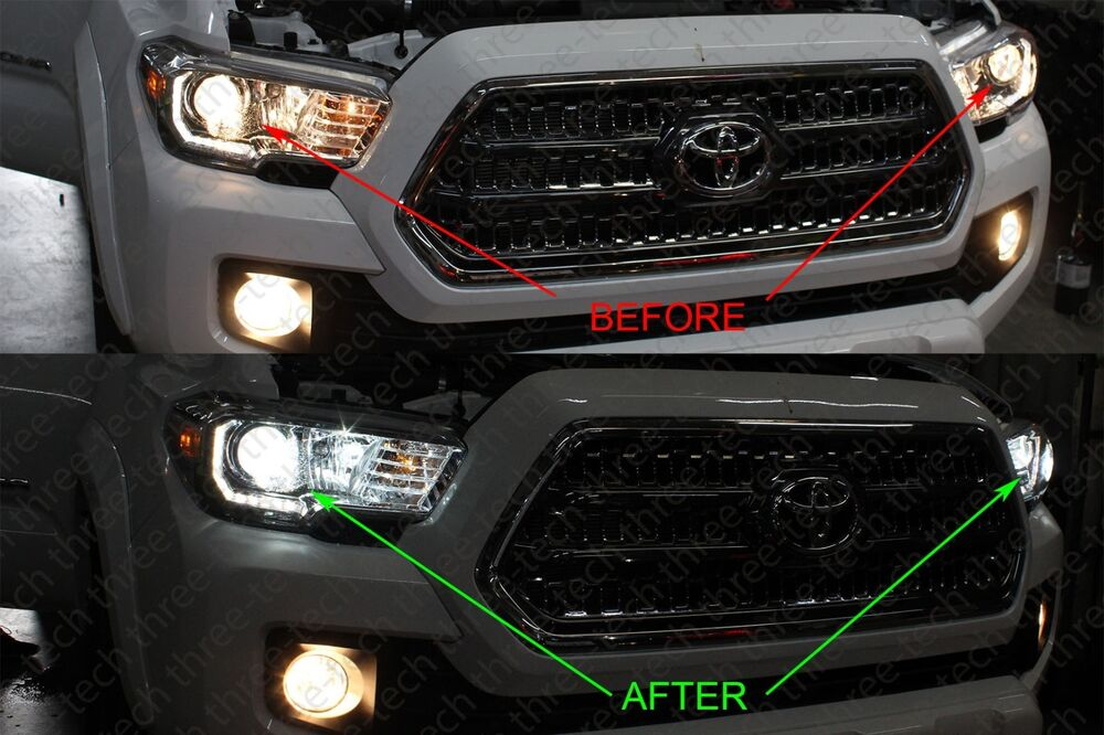 16 Toyota Tacoma 6000k Headlight Ac Hid Xenon Conversion