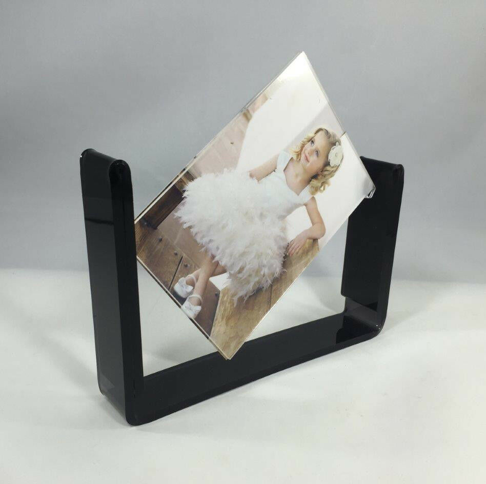 acrylic tabletop 4x6 spinner picture photo frame menu holder display plexiglass ebay. Black Bedroom Furniture Sets. Home Design Ideas