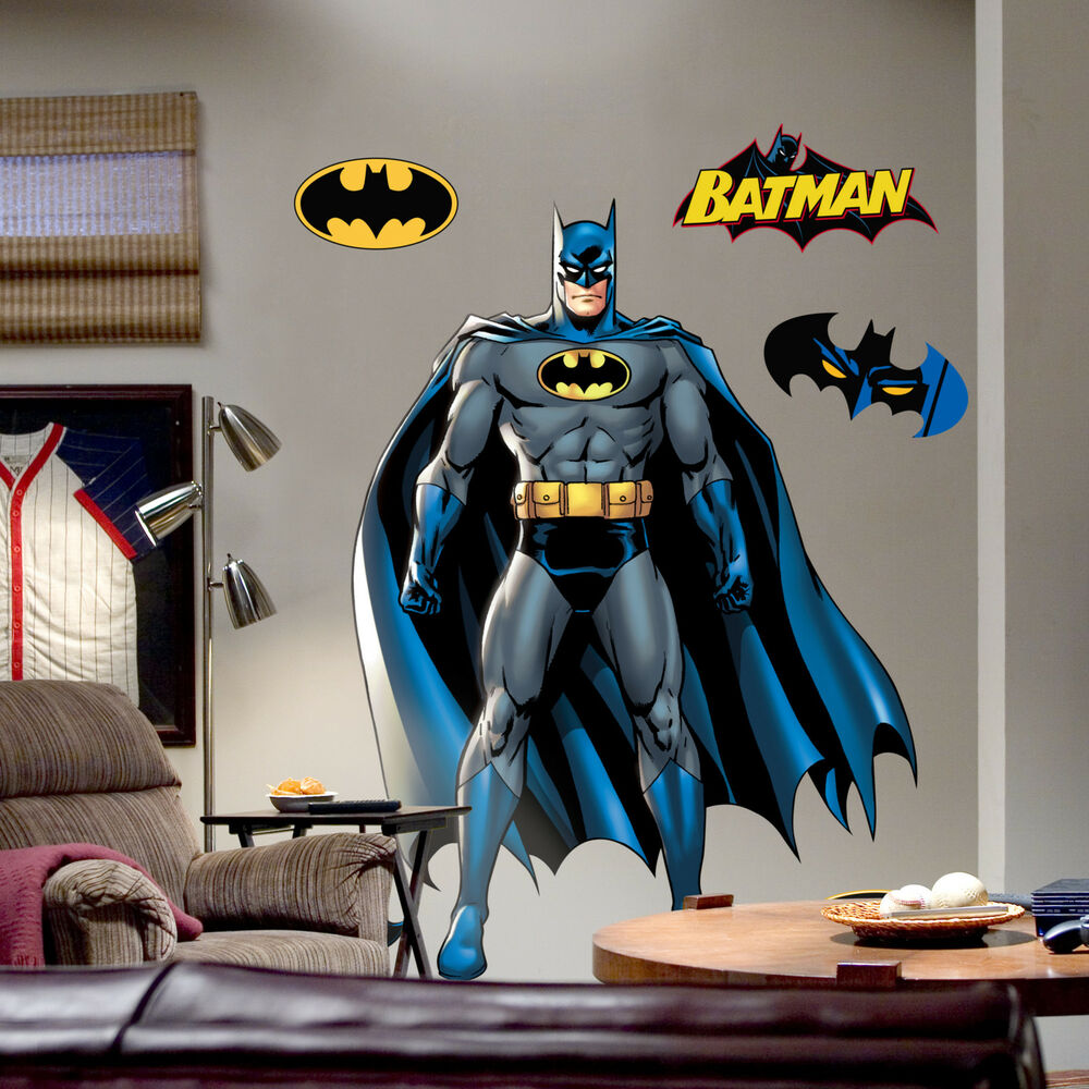 Fathead super heroes batman wall decal ebay for Batman wall mural decal