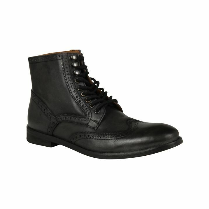 frank wright mens whitby black brogue ankle boots uk 7