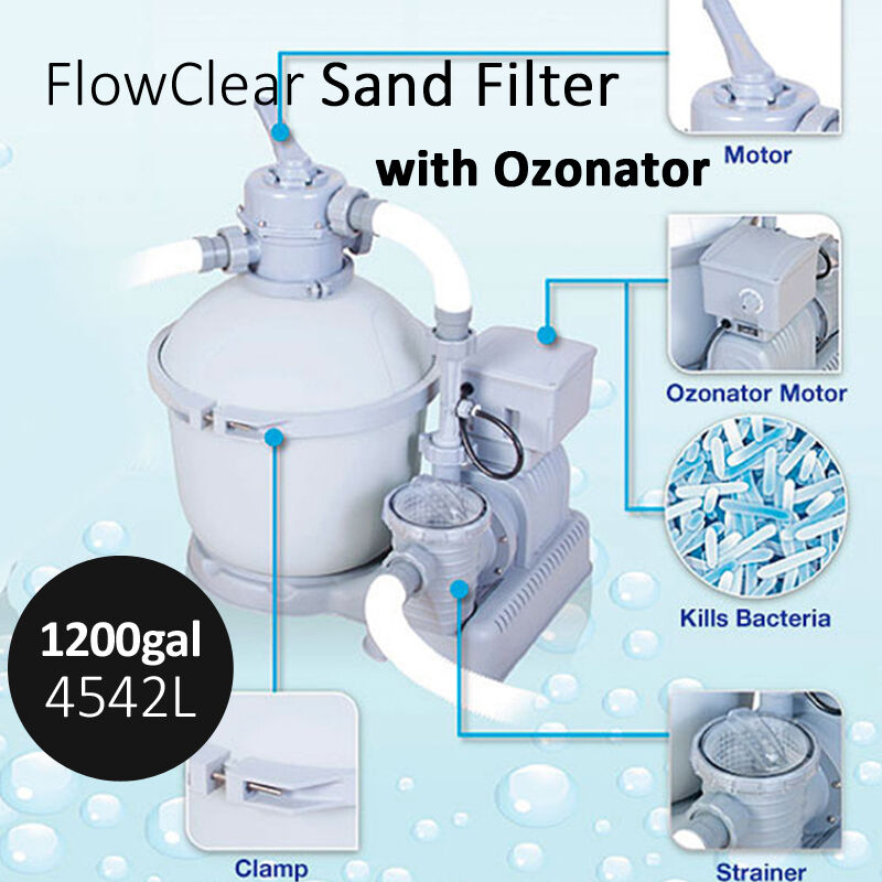 Bestway 4542l 1200gal Flowclear Sand Filter Pump Ozonator Pool Clean Accessory Ebay