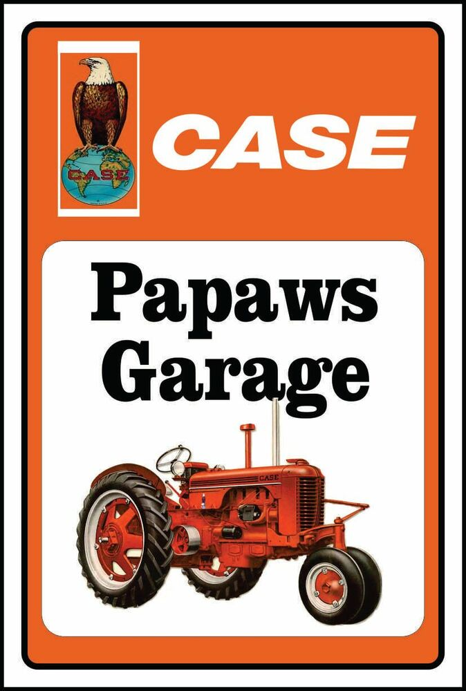Case tractor sign with eagle papaw 39 s garage ebay for Garage costruito case