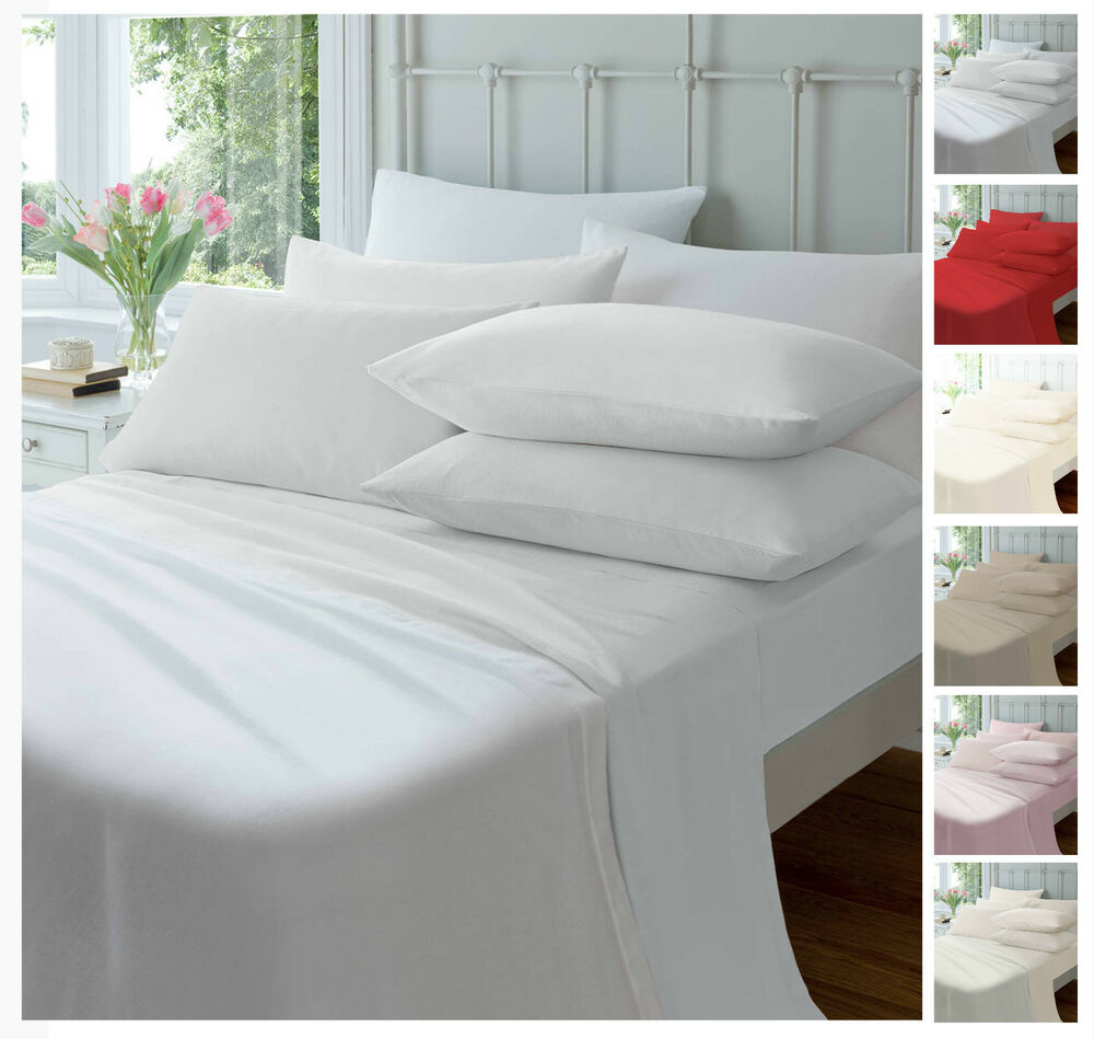 luxury flannelette fitted sheets soft brushed cotton bed. Black Bedroom Furniture Sets. Home Design Ideas